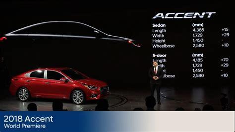 hyundai accent hb 2018 2018 hyundai accent sedan debuts at 2017 canadian auto