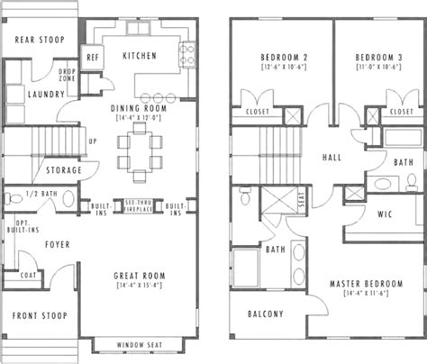 Two Storey House Plans With Kitchen Upstairs Design Small Homes With Huge Appeal Professional Builder
