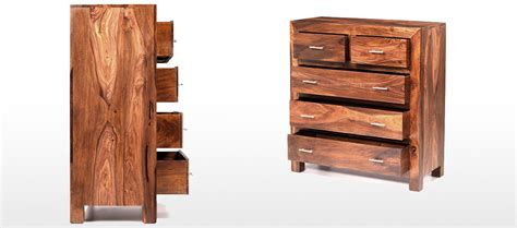 Sheesham Chest Of Drawers by Cube Sheesham 2 3 Chest Of Drawers Quercus Living
