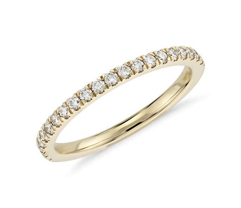 pav 233 ring in 18k yellow gold 1 3 ct tw