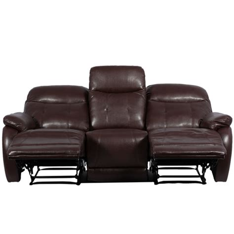 3 seater brown leather recliner sofa leather recliner sofa 3 seater eros brown price