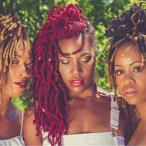 african americam natural dreads red locs beautiful dreadlocs locs dreads