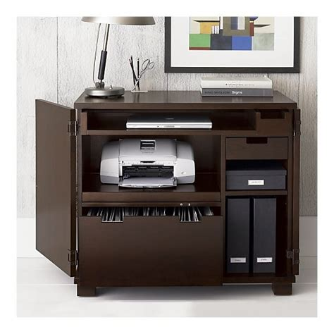 hidden printer cabinet incognito mocha compact office