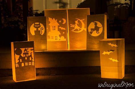 How To Make Paper Luminaries - paper bag luminaries unoriginal