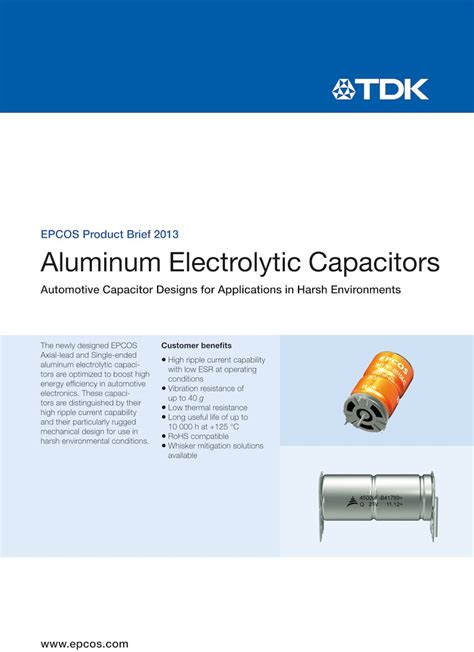epcos capacitors application note epcos capacitors for automotive electronics 28 images aluminum electrolytic capacitors