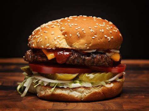 Handmade Burgers Recipe - burger king whopper style cheeseburgers recipe