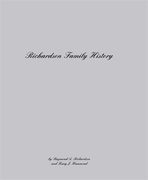 bankhead family history book richardson design richardson family history by raymond a richardson and