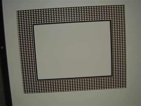 Custom Frame And Mat by Picture Frame Mat Houndstooth Check Black And White Custom