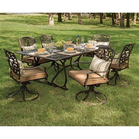 members annapolis 7 cast aluminum patio dining