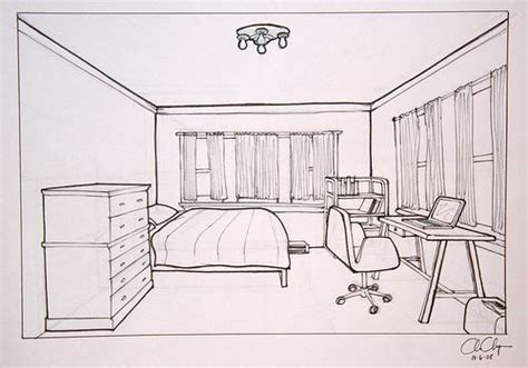 sketch of a bedroom 1 point perspective bedroom drawing design ideas 2017