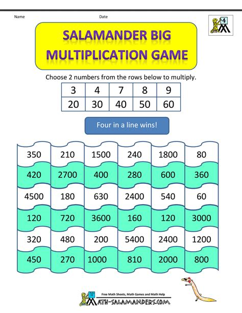 printable math games grade 3 multiplication games for grade 3 classroom