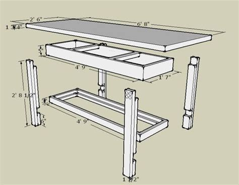 workbench plans   sketchup workbench plans