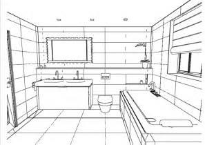 Bathroom drawing on stylish home interior decorating all