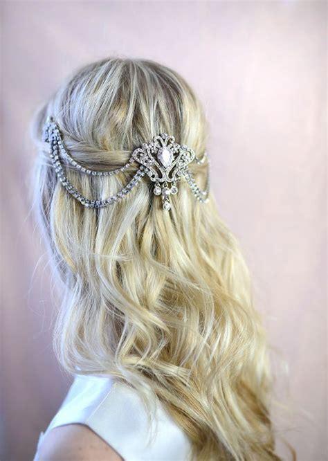 Vintage Bridal Hair Chain by Tocados De Novia Glam Boho Y Vintage 161 Encuentra El Tuyo