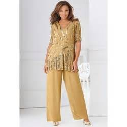 Plus Size Beaded Bronze Special Occasion Pant Suit At Roaman Polyvore