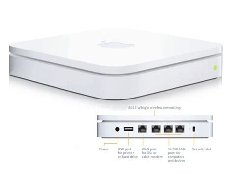 Router Apple apple a1354 airport base station wireless access point router mc340ll a
