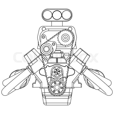doodle engine rod drawing www pixshark images galleries with