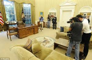 redesign oval office churchill out martin luther king in as president obama