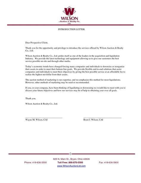 business introductory letter apparel dream