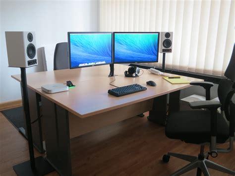 Home Office Setups my mac mini work setup x post from r macsetups
