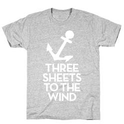 three sheets to the wind one s quest for the meaning of books three sheets to the wind tshirt human