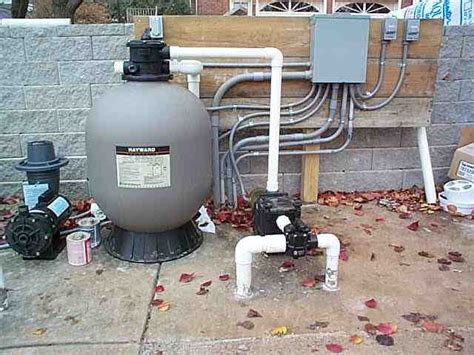 Pool Filter Plumbing by On Ground Pool Construction Filter System Plumbing