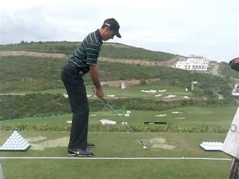 down the line golf swing charl schwartzel golf swing with iron down the line
