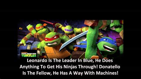 Theme Song Ninja Turtles   nickelodeon s teenage mutant ninja turtles theme song