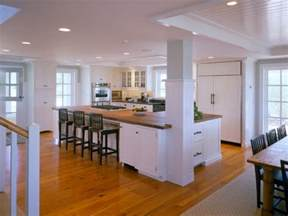 kitchen island with post kitchen floor and counter tops with pine cabinets kitchen