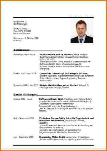 Lebenslauf Vorlage Ingenieur Lebenslauf Ingenieur Reimbursement Format