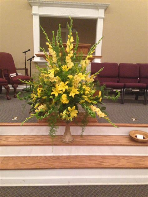 Flowers placed in honor of my parents in the sanctuary of