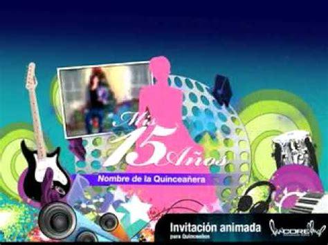 imagenes animadas de xv años invitacion animada 15 a 209 os youtube