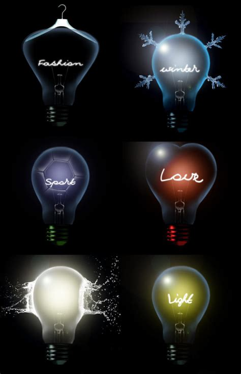 4 designer creative light bulb high definition pictures