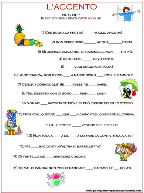 esercizi di italiano seconda elementare ee67 pineglen