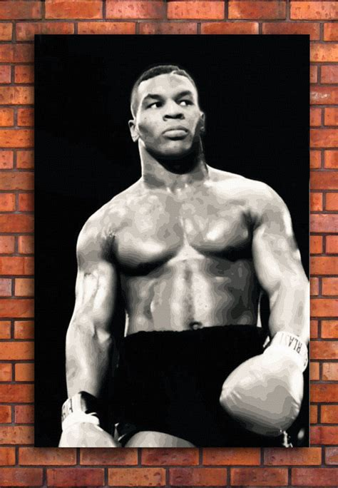 Boxer Mike Hello mike tyson canvas framed wall print boxing a1 a2 a3