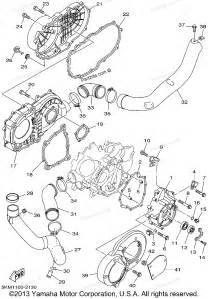 yamaha atv parts 2002 grizzly 660 yfm660fp crankcase cover 1 diagram