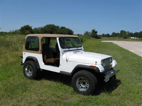 jeep wrangler 4 cylinder for sale 1993 4x4 jeep yj wrangler 2 5l 4 cylinder 5 speed manual