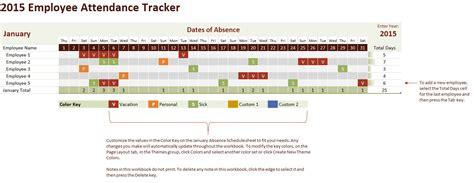tracking calendar template 2015 employee attendance tracking calendar