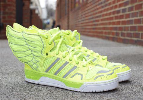 jeremy scott  adidas js wings  neon sneakernewscom