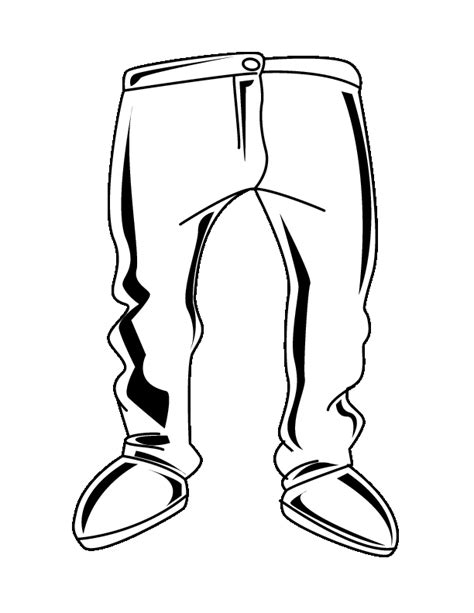 free coloring pages of pants