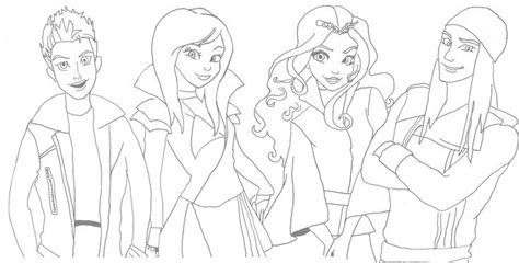 coloring pages of disney descendants mal descendants wicked world coloring pages sketch