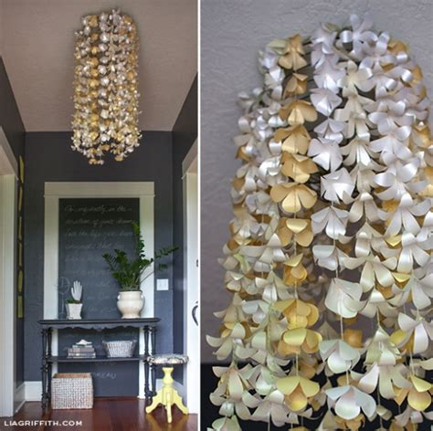 Paper Flowers Floral Garland Decor Home Wall Decor Diy Paper Flower Chandelier By Lia Griffith Project Home Decor Decorative Kollabora