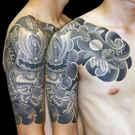 60 samurai helmet tattoo designs for men japanese ink ideas