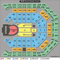 Mgm Grand Garden Arena Seating Chart by Rolling Stones Seating Chart Guide For 50 And Counting Concert
