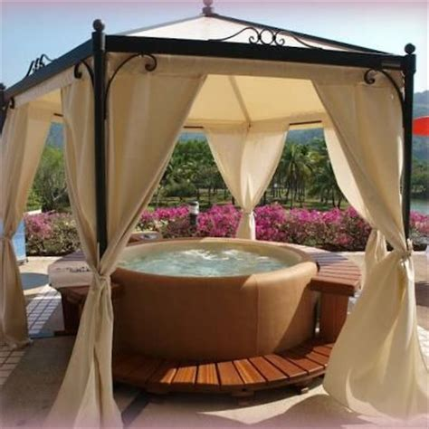 hot tub privacy curtains hot tub design ideas how to get this in my porch