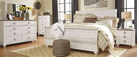 whitewash bedroom furniture willowton whitewash sleigh bedroom set b267 74 77 96 ashley