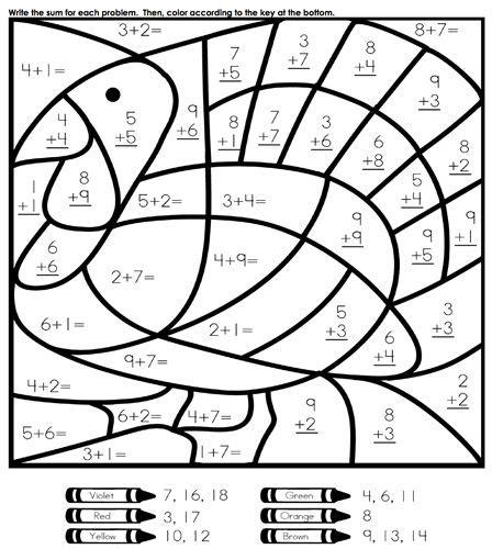 math skills coloring pages our favorite sites for thanksgiving coloring pages