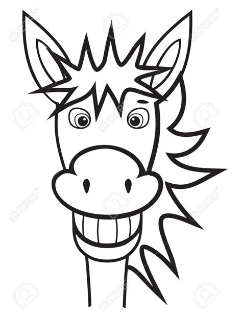 donkey face coloring page donkey clipart face pencil and in color donkey clipart face