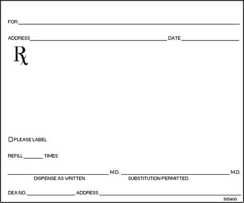 prescription blank template 26 images of blank prescription form doctor template