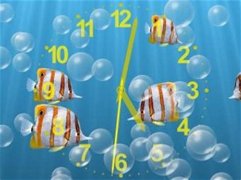 underwater clock screen saver and bubbles screen saver for